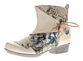 TMA Damen Stiefeletten Comfort Boots Echtleder Schwarz-Grau Weiß-Creme Leder Schuhe TMA 6211 Gr. 36 - 42 – Bild 2