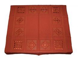 Tischdecke Handimex reine Handarbeit Rot Loch Stickerei Motiv Quadratisch 85x85 – Bild 2