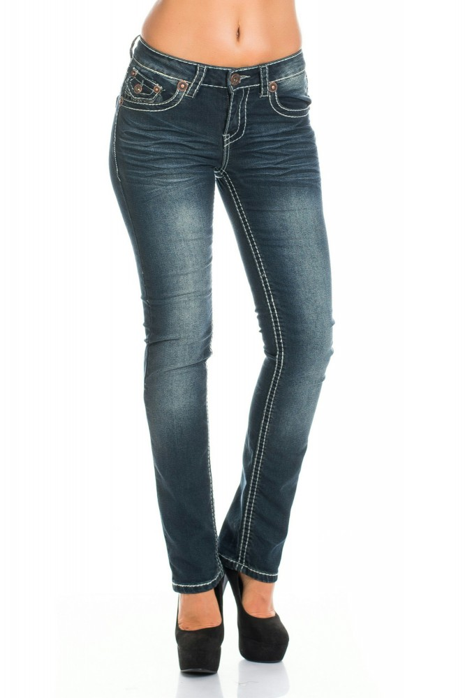 damen stretch jeans hose five pocket waschungen breite naht low cut gr 36 44 ebay. Black Bedroom Furniture Sets. Home Design Ideas