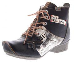 TMA Leder Damen Stiefeletten gefüttert Comfort Boots echt Leder Winter Schuhe TMA 8077 Gr. 36 - 42 – Bild 2