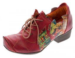 TMA Leder Damen Halbschuhe Schnürer viele Farben Comfort Schuhe echt Leder Pumps TMA 8088 Gr. 36 - 42 – Bild 4