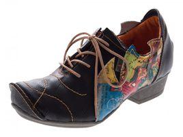 TMA Leder Damen Halbschuhe Schnürer viele Farben Comfort Schuhe echt Leder Pumps TMA 8088 Gr. 36 - 42 – Bild 2