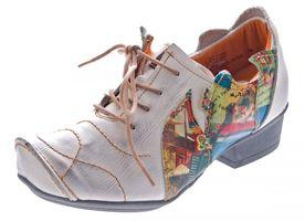 TMA Leder Damen Halbschuhe Schnürer viele Farben Comfort Schuhe echt Leder Pumps TMA 8088 Gr. 36 - 42 – Bild 3