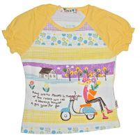 Mädchen Shirt Rüschen Kurzarm Glitzer Steine T-Shirt Kinder Motiv Gr. 128-152 – Bild 2