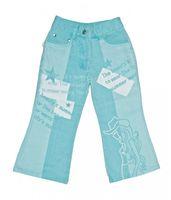 Mädchen Schlag Hose Kinder Jeans lang Western Style Texturiert Motiv Gr. 98-146 – Bild 2
