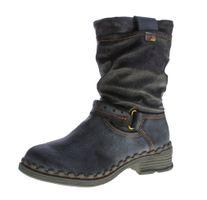 TMA Damen Winter Stiefel echt Leder gefüttert Comfort Stiefeletten TMA 5005 Schuhe Boots Gr. 36 - 42 – Bild 2