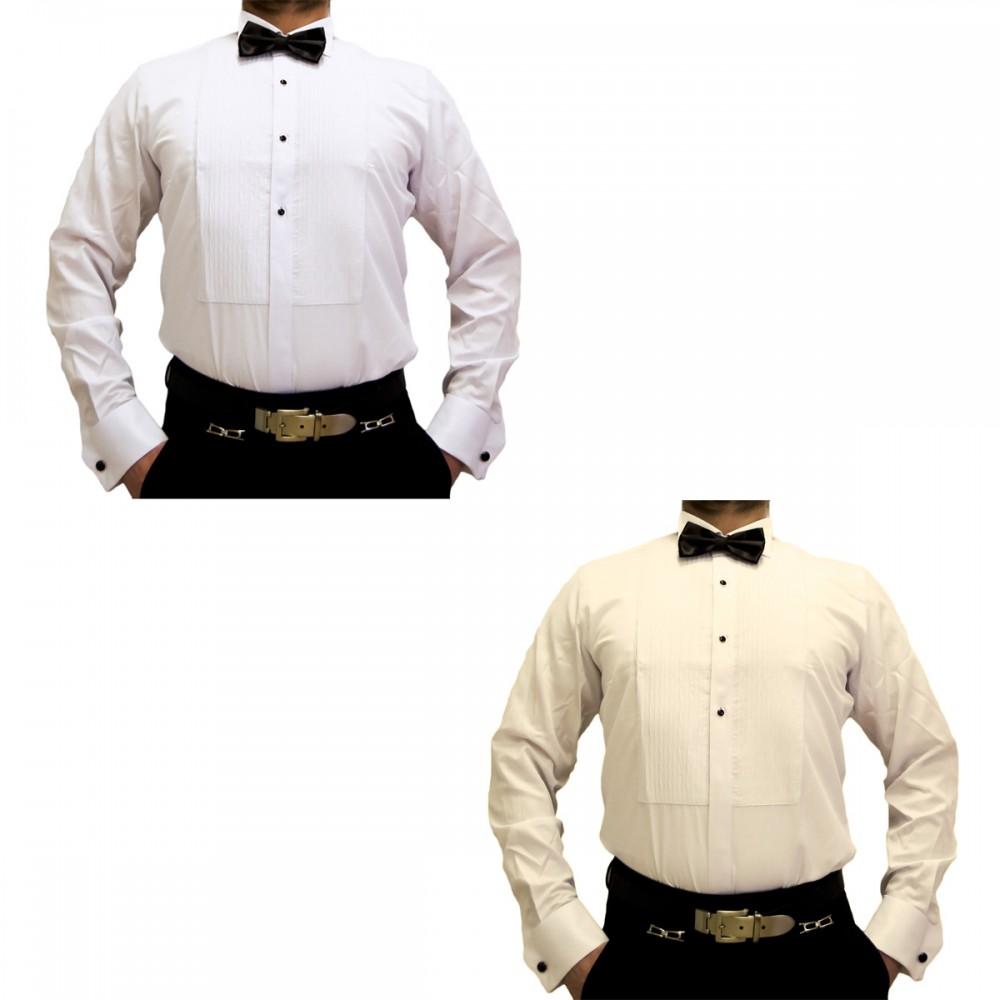 promo code 7f164 e48b9 Designer Herren Smoking Hemd Slim Fit Business Hochzeit Manschettenknöpfe  Plissee Fliege S17 Langarm