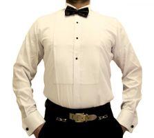 Designer Herren Smoking Hemd Slim Fit Business Hochzeit Manschettenknöpfe Plissee Fliege S17 Langarm – Bild 3