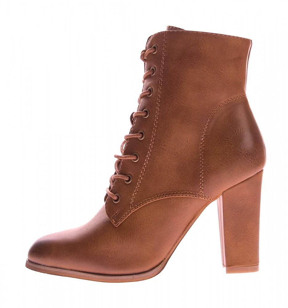 641ddf42678fb4 Damen Stiefeletten leicht gefüttert Schuhe Braun Grau Schnür Stiefel Block  Absatz Gr. 36-41