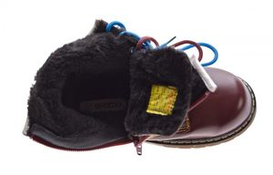 Kinder Knöchel Schuhe Winter Lack Leder Schnürer Jungen Mädchen warm gefüttert Outdoor Boots Gr. 32 - 37 – Bild 12