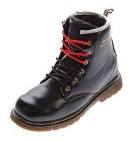 Kinder Knöchel Schuhe Winter Lack Leder Schnürer Jungen Mädchen warm gefüttert Outdoor Boots Gr. 32 - 37 – Bild 2