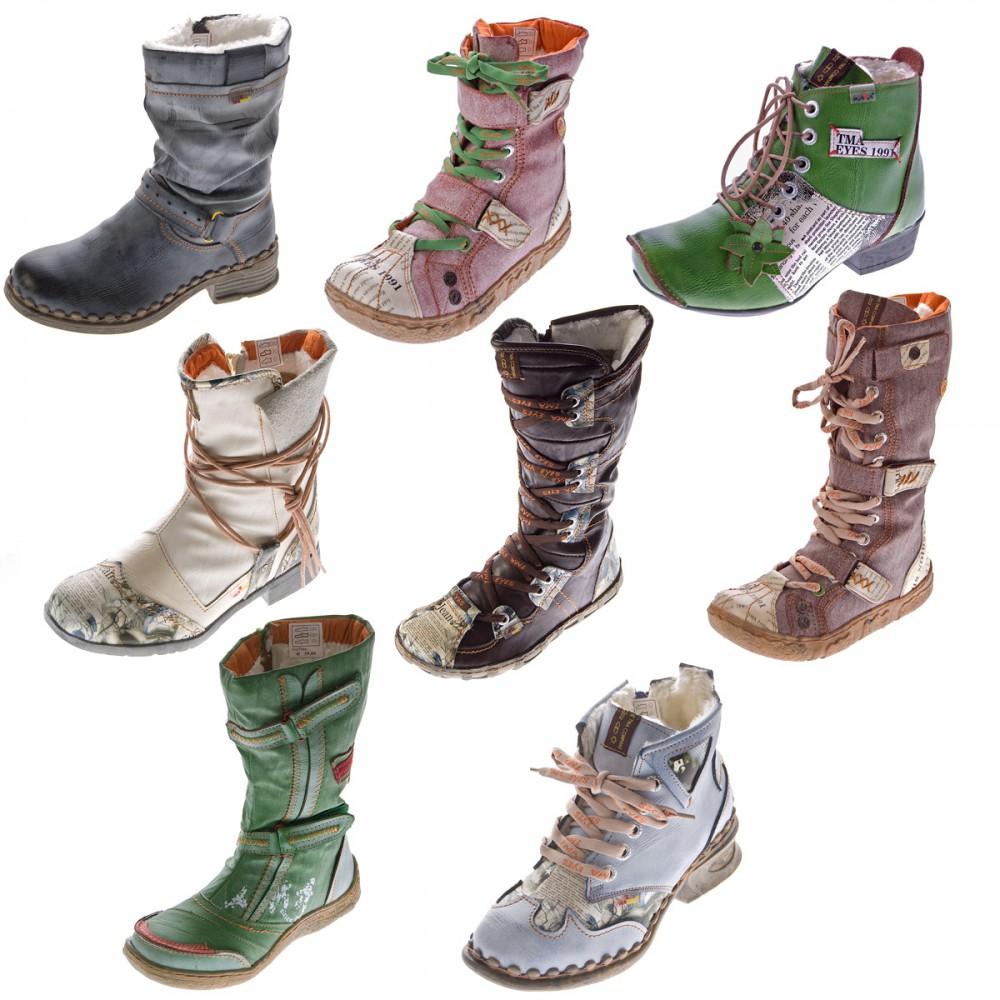 brand new 500ba 3e4f2 Details zu TMA B-Ware Leder Stiefel Stiefeletten Damen Winter Schuhe 2018  7086 2013 7087