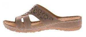 Damen Pantoletten Schuhe Clogs Leder Innensohle Latschen Schwarz Grau Sandalen Gr. 36 - 41 – Bild 9