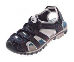 Kinder Sandalette geschlossen Gummizug Leder Innensohle Schuhe Klettverschluss Gr. 31-35 – Bild 2