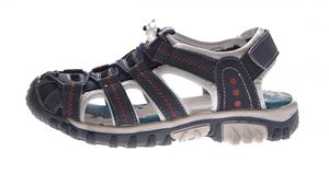Kinder Sandalette geschlossen Gummizug Leder Innensohle Schuhe Klettverschluss Gr. 31-35 – Bild 5
