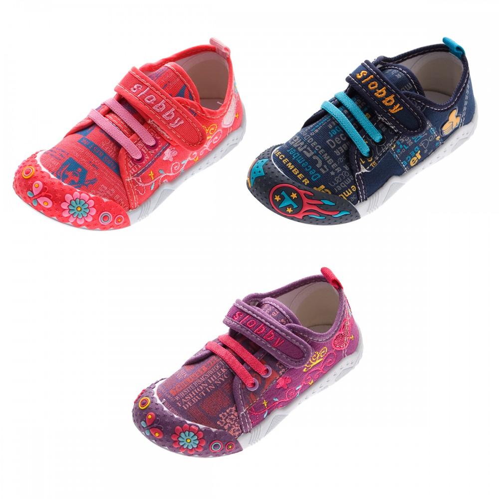 Kinder Leinen Schuhe Jungen Madchen Stoff Hausschuhe Klettverschluss