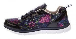 Damen Sport Schuh Blumen Netzmuster Sneakers Lack-Optik Halbschuhe Schnürer EVA-Sohle Gr. 36-41 – Bild 9
