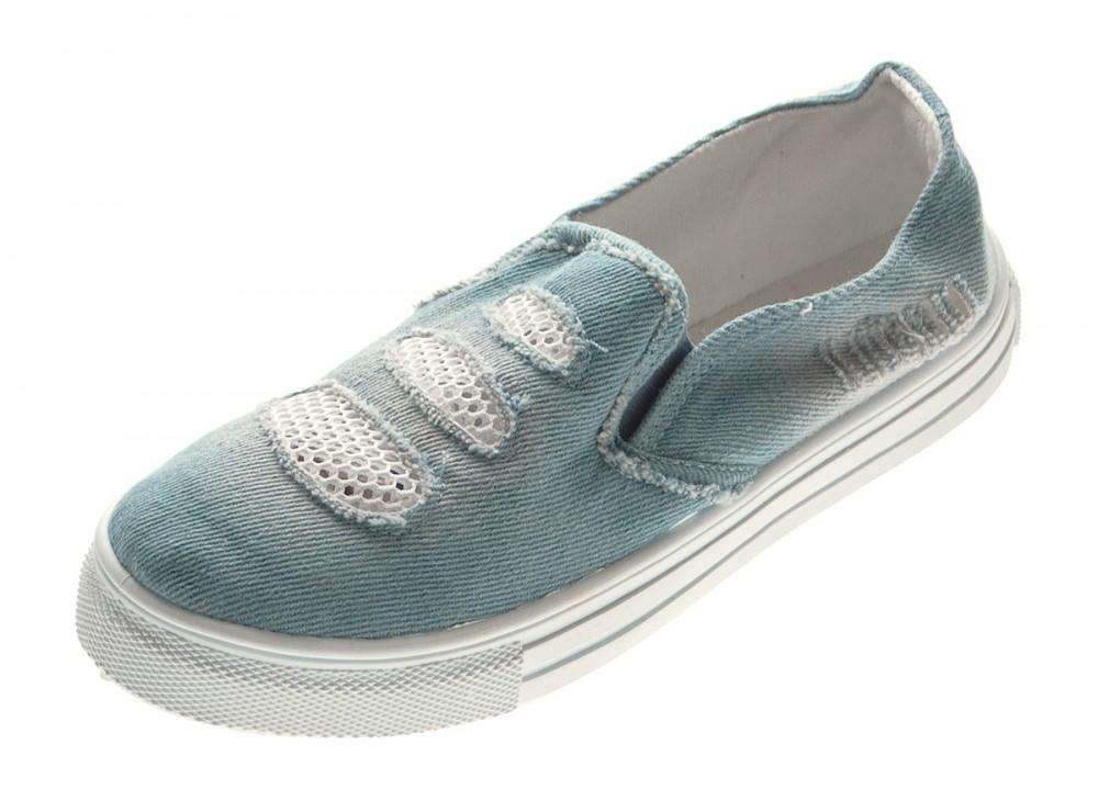 info for eb353 45035 Damen Ballerinas Jeans-Look Halb Schuhe Blau Slipper flach Stoffschuhe  Sneakers Gr. 36 - 41