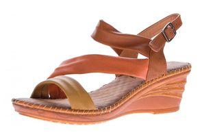 Damen Keil Sandaletten Schnalle Clogs Schuhe Fessel Riemchen Sandalen Wedges Gr. 36-41
