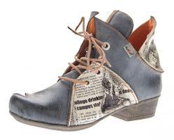 TMA Damen Stiefeletten echt Leder Schuhe Comfort Leder Boots TMA 8818 Knöchelschuhe Gr. 36 - 42  – Bild 2