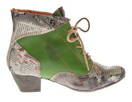 Damen Knöchel Schuhe echt Leder Stiefeletten Muster variieren Comfort Stiefel TMA 7616 Boots 36 - 42 – Bild 11