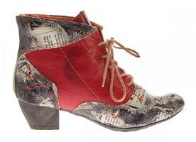 Damen Knöchel Schuhe echt Leder Stiefeletten Muster variieren Comfort Stiefel TMA 7616 Boots 36 - 42 – Bild 13