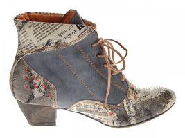 Damen Knöchel Schuhe echt Leder Stiefeletten Muster variieren Comfort Stiefel TMA 7616 Boots 36 - 42 – Bild 7
