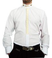 Designer Herren Hemd B-Ware Steh Kragen Stick Kent Kragen Glanz Hemden Lang Arm viele Modelle – Bild 16