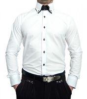 Herren Designer Hemden B-Ware Freizeit Hemd Business klassischer Kent Kragen Lang Kurz Arm 2. Wahl – Bild 3