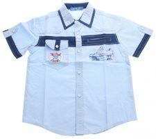 Jungen Hemd kurzarm Aufdruck Kinder Shirt Kent Kragen Hemden Jugendweihe Einschulung Gr. 140-170 – Bild 4