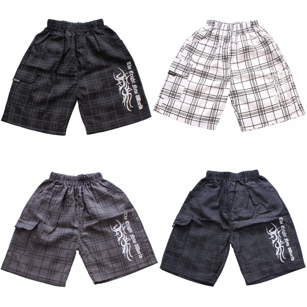 jungen shorts tribal kurze hose sommer bermuda kariert gummizug baggy 104 140 ebay. Black Bedroom Furniture Sets. Home Design Ideas