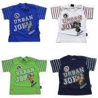 Jungen T-Shirt Kurzarm Sommer Kinder Shirt Aufdruck Spaß Motiv Knopfleiste Gr. 74-98