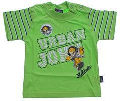 Jungen T-Shirt Kurzarm Sommer Kinder Shirt Aufdruck Spaß Motiv Knopfleiste Gr. 74-98 – Bild 4