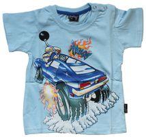 Jungen T-Shirt Kurzarm Sommer Kinder Shirt Monster Truck Spaß Motiv Knopfleiste Gr. 74-98 – Bild 4