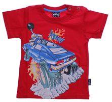 Jungen T-Shirt Kurzarm Sommer Kinder Shirt Monster Truck Spaß Motiv Knopfleiste Gr. 74-98 – Bild 5