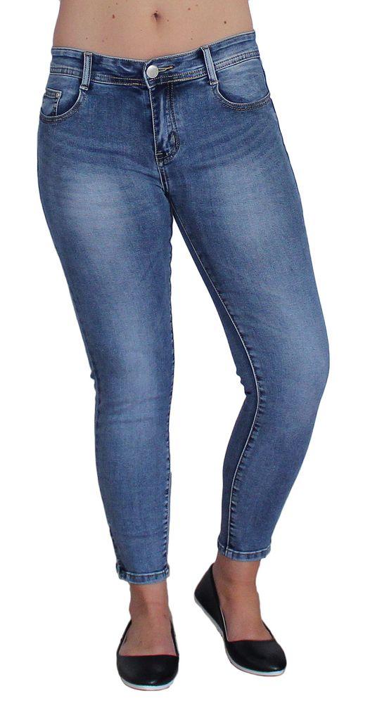 e7262a6ecbd8 Damen Jeans Blau Stretch Skinny Hose Röhre Kurz Größe Waschungen 5 Pocket  Gr. 36-44
