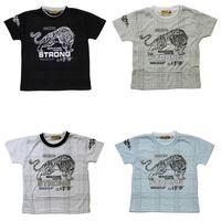 Jungen T-Shirt Kurzarm Sommer Kinder Shirt Tribal Tiger Motiv Rundhals Gr. 140-164