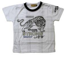Jungen T-Shirt Kurzarm Sommer Kinder Shirt Tribal Tiger Motiv Rundhals Gr. 140-164 – Bild 2