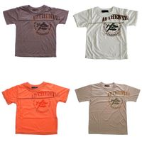 Jungen T-Shirt Kurzarm Sommer Kinder Shirt Aufdruck Schriftzug Flugzeug Gr. 122-158