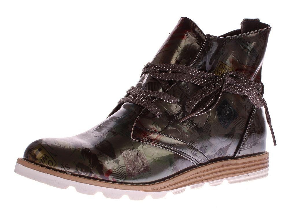 wholesale dealer f04ec b89e6 Damen Stiefeletten Kunst Leder Knöchel Schuhe Sun & Shadow Boots Mehrfarbig  Gr. 37-43