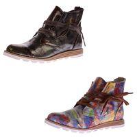 Damen Stiefeletten Kunst Leder Knöchel Schuhe Sun & Shadow Boots Mehrfarbig Gr. 37-43 – Bild 1