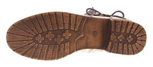 Damen Stiefeletten Mehrfarbig Sun & Shadow Kunst Leder Knöchel Schuhe Boots Allover Print Gr. 36-43 – Bild 13