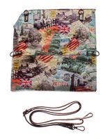Handtasche Damen Sun & Shadow Umhängetasche City Print Schultergurt Lack-Optik – Bild 2