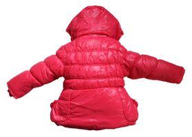 Mädchen Winter Jacke gefüttert Kapuze Kinder Stepp Jacke Bindegürtel Gr. 110-140 – Bild 3