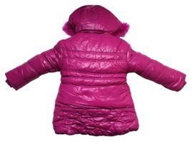 Mädchen Winter Jacke gefüttert Kapuze Kunstfell Kinder Stepp Jacke Gr. 110-128 – Bild 3