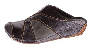 Damen Pantoletten echt Nubuk Leder Clogs Sandalen Gemini Schuhe Latschen Slipper Gr. 37-41 – Bild 2