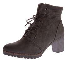 Damen Stiefeletten Sun & Shadow leicht gefüttert Schuhe Stiefel Block Absatz Grau Dirty Gr. 37 - 41