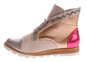 Damen Stiefeletten Sun & Shadow Boots Silver Broken Kunst Leder Knöchel Schuhe Gr. 37-41 – Bild 3