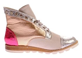 Damen Stiefeletten Sun & Shadow Boots Silver Broken Kunst Leder Knöchel Schuhe Gr. 37-41 – Bild 4