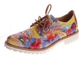 Damen Halb Schuhe Kunst Leder Sun & Shadow Schnürschuhe Mehrfarbig Slipper Picassoglanz Gr. 38 - 43